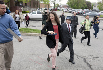 inger Paul Simon and his wife, singer Edie Brickell leave the Norwalk Superior Court in Norwalk, Connecticut