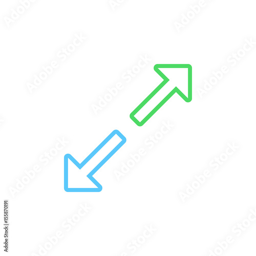 Expand line icon maximize outline vector logo illustration linear expand line icon maximize outline vector logo illustration linear pictogram isolated on white ccuart Images