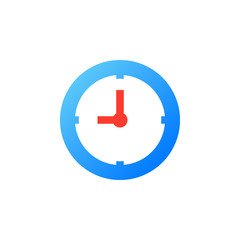 Clock icon vector, Time solid logo illustration, colorful pictogram isolated on white