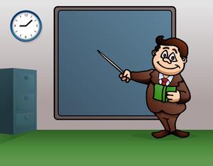 male teacher teaching