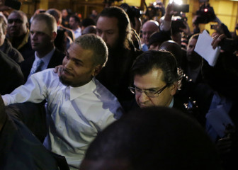 Rapper Chris Brown departs the District of Colombia courthouse in Washington
