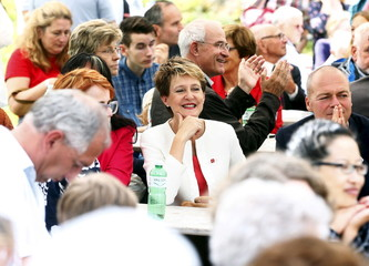 Swiss President Sommaruga attends Swiss national holiday celebrations on the Ruetli meadows
