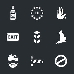 Vector Set of England Brexit Icons.