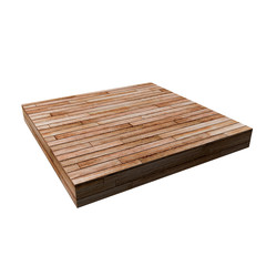wooden square shape