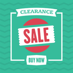 Social media clearance sale banner. Vector illustrations for website and mobile website banners, posters, email and newsletter designs, ads, promotional material.