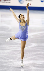 Imai of Japan skates in the ladies free skate competition at the Hilton HHonors Skate America in Kent