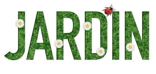 jardin - mot - jardiner - printemps - jardinier - présentation - fleur - coccinelle
