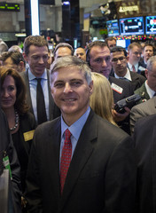 Hilton CEO Nassetta celebrates his company's IPO at the New York Stock Exchange