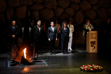French Prime Minister Manuel Valls attends a ceremony in the Hall of Remembrance at the Yad Vashem holocaust memorial in Jerusalem