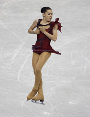 Sotnikova of Russia performs during the women's short programme at the ISU Grand Prix of Figure Skating Final in Fukuoka
