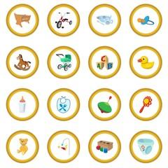 Baby cartoon icon circle