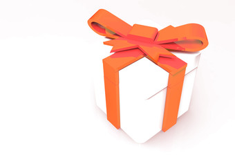 ribbon wrapped gift package