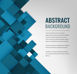 Abstract background with colorful squares. Business design template. Vector
