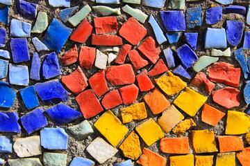 Mosaic background. Colorful ceramic tile pattern