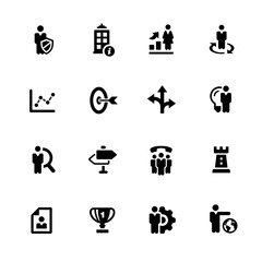 Company Strategy Icons // Black Series - Vector icons for your digital or print projects.