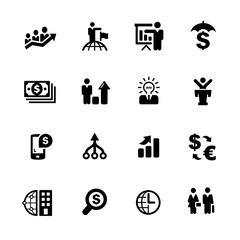 Financial Business Icons // Black Series - Vector icons for your digital or print projects.