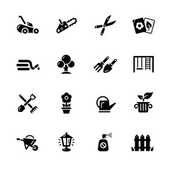 Gardening Icons // Black Series - Vector icons for your digital or print projects.