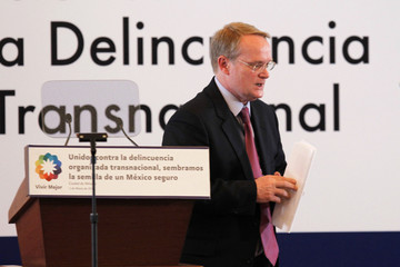 Blackwell, Secretary of Multidimensional Security at OAS, takes part during the inauguration of the Hemispheric Meeting against Transnational Organized Crime in Mexico City