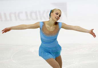 Korpi of Finland performs during women's short program competition at European Figure Skating Championships in Bern