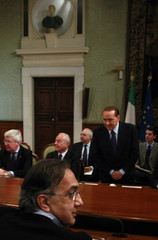 Fiat SpA and Chrysler LLC CEO Marchionne attends a meeting with Italy's PM Berlusconi in Rome