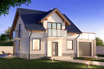 Obraz Single family house - fototapety do salonu