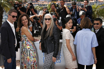 Jury President Jane Campion and jury members of the 67th Cannes Film Festival pose during a photocall before the opening of the Film Festival in Cannes