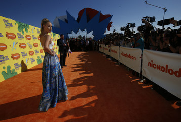Rapper Iggy Azalea arrives at the 2015 Kids' Choice Awards in Los Angeles