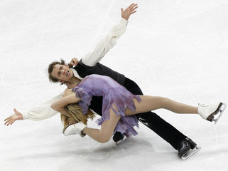 Tobias and Stagniunas of Lithuania perform during the ice dance free dance competition at the European Figure Skating Championships in Bern