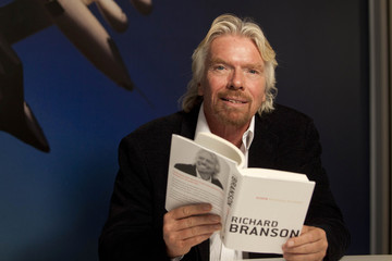 "Sir Richard Branson poses for a portrait in support of his new book, ""Screw Business As Usual"" at the Virgin Offices in New York"