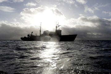 """The Latvian Navy ship """"Varonis"""" participates in a search and rescue exercise in the Baltic sea near Engure"""