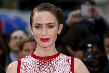 """Acress Emily Blunt arrives for the UK premiere of """"Sicario"""" at Leicester Square in London"""
