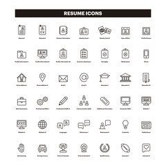 CV & Resumé outline icons