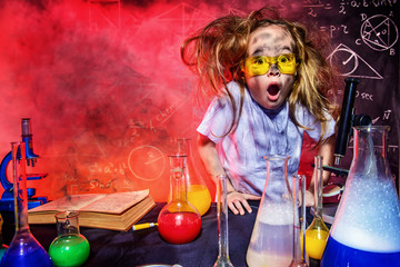 small girl scientist
