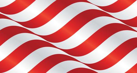 USA wavy flag ribbon landscape background
