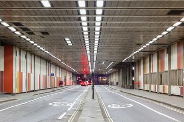Beech Street tunnel in Barbican, London