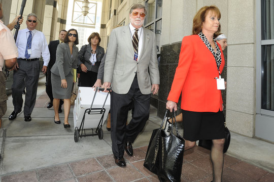 Defense Attorney Mason leaves after 1st degree murder trial of Casey Anthony was given to the jury at the Orange County Courthouse in Orlando