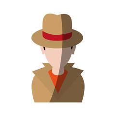 spy or investigator avatar icon image vector illustration design