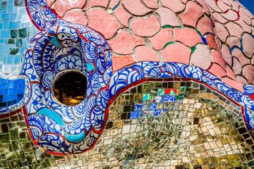 Dans le Jardin des Tarots à Capalbio en Toscane