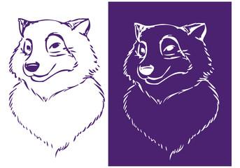 Wolf-head stencil 01