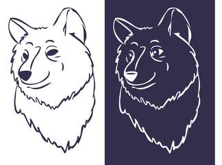Wolf-head stencil 02