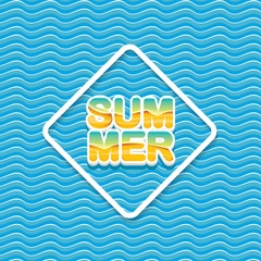 vector summer sale bright label design template .