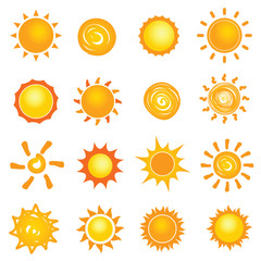sun icon collection set illustration