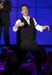 "Singer McIntyre of pop group New Kids on the Block performs at the 23rd annual ""A Night at Sardi's"" benefit for the Alzheimer's Association in Beverly Hills"