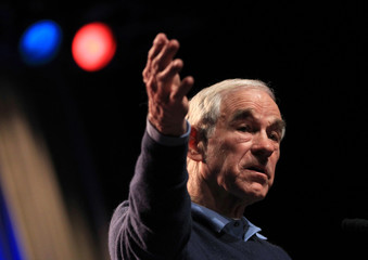 Republican presidential candidate Ron Paul (R-TX) speaks during a campaign event in Reno