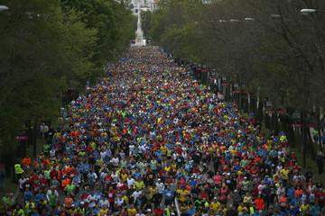 Runners participate in the Madrid marathon