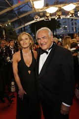 """Former International Monetary Fund chief Dominique Strauss-Kahn arrives for the screening of the restored print of the film """"Plein Soleil"""" during the 66th Cannes Film Festival"""