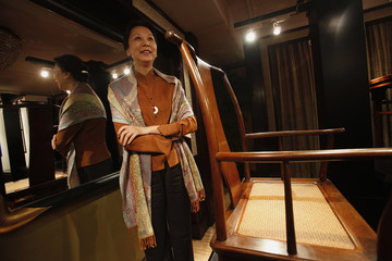 Wang daughter of former Chinese Premier Ziyang and Director and President of China Guardian Auctions the oldest auction house in mainland China poses in Hong Kong