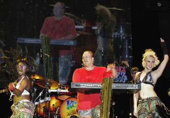KC and the Sunshine Band perform during the Jamaica Jazz and Blues 2013 festival in Trelawny