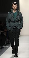 A model presents a creation as part of the Bottega Veneta Fall/Winter 2010/11 Men's collection during Milan Fashion Week