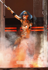 Singer Katy Perry performs at the 54th annual Grammy Awards in Los Angeles, California